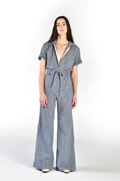 Bailey Engineer Stripe Denim Jumpsuit