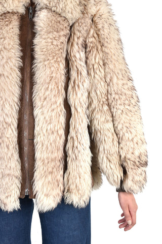 Adelaide Shearling & Leather Chubby Fur Coat
