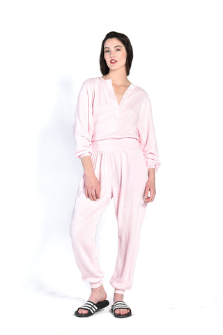 Stephanie Rose Petal Fleece Jumpsuit