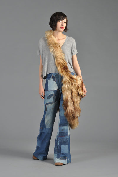 Massive 1970s Ultra Shaggy Goat Fur Bag