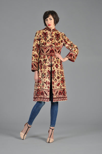 1960s Kilim/Indian-Inspired Tapestry Coat As Seen On Mad Men