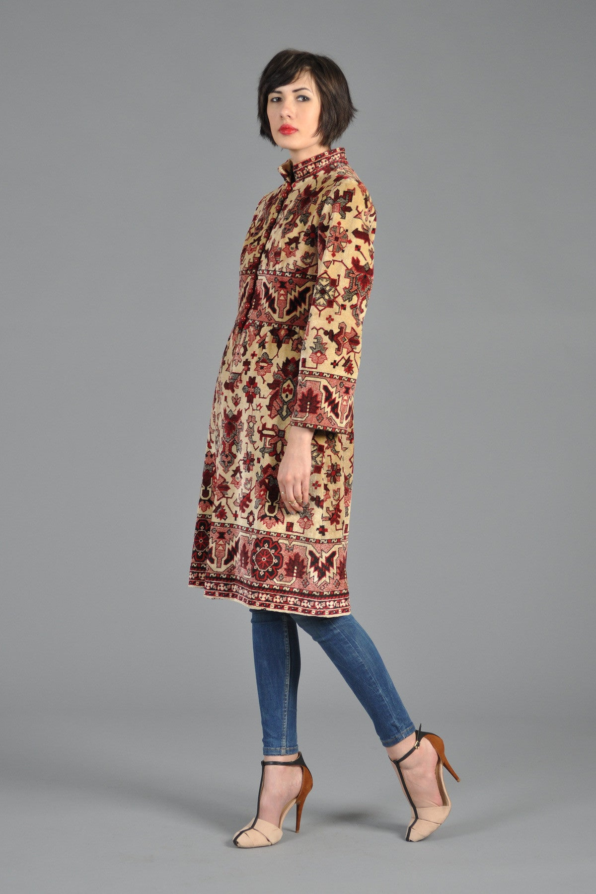 1960s Kilim Indian Inspired Tapestry Coat As Seen On Mad Men