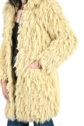 Patty Super Shaggy String Coat
