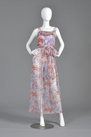 Ted Lapidus 1970s Sheer Silk Dress