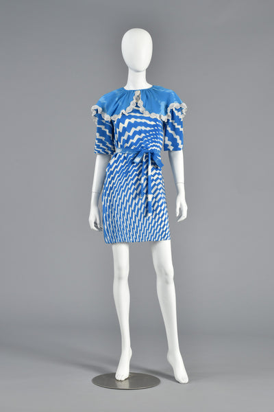 Thea Porter Couture Op Art Mini Dress