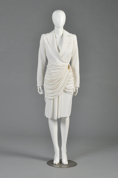 Thierry Mugler Avant Garde Draped Suit