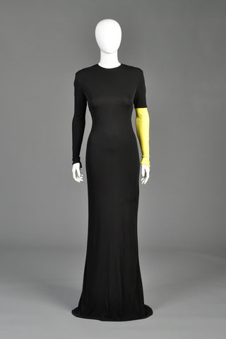 1990s Gianni Versace Couture Colorblock Gown