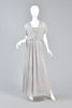 Victor Costa Dove Grey Grecian Pleated Evening Gown