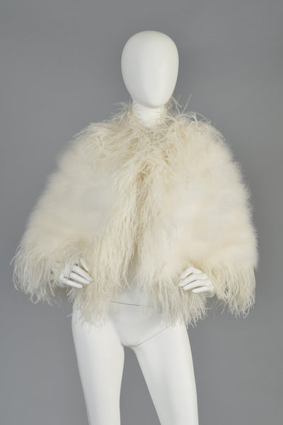1970s Marabou + Ostrich Feather Cape