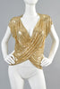 Ferrara for Whiting & Davis 1970s Chain Mail Draped Top