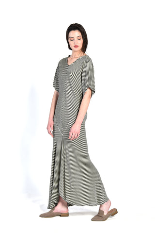Willow Moroccan Gauze Striped Dress