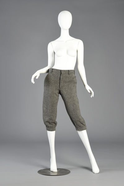 Early 80s High Waisted Cropped Wool Trousers by Woolrich