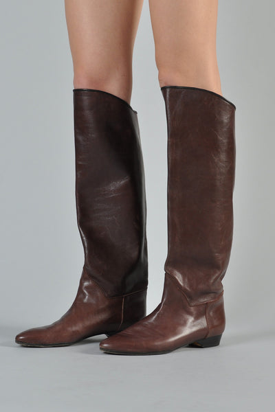 Yves Saint Laurent 1970s Leather Boots