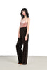 YSL 70s High Waisted Wide Leg Velvet Trousers