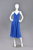 Wayne Clark Lapis Colored Silk Chiffon Dress