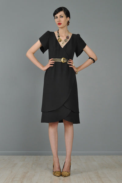Adele Simpson Draped Tulip Skirt LBD