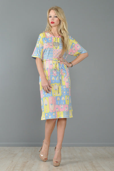 Bessi Psychedelic Hearts + Spades Dress