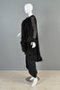 Bill Blass Silk Maxi Gown + Flocked Feather Trim Jacket