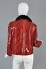 Bill Blass Mink Lined Python Skin Jacket
