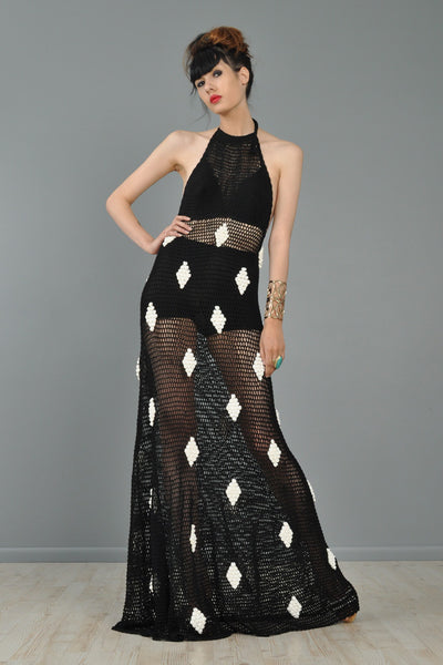 Diamonds Are A Girl's Best Friend Crochet Maxi
