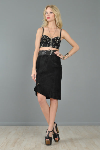 DKNY Studded Cropped Lace Bustier