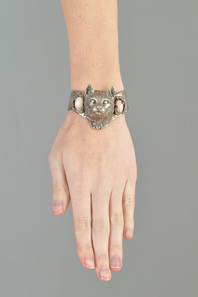 Bob Stringer Sterling Silver Cat Bracelet
