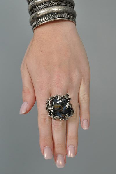 Bob Stringer Sterling Silver + Polished Stone Ring