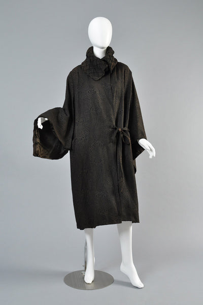1920s Lamé Coat with Draped Sleeves