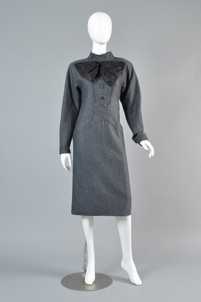 Chloe 1980s Wool + Silk Bow Dress