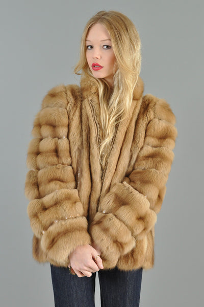 Christian Dior Golden Russian Sable + Snakeskin Coat
