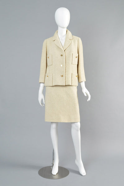 1960s Numbered Christian Dior Oatmeal Suit