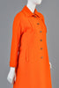 Courreges 1960s Mod Orange Wool Coat