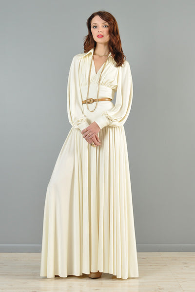 Estevez 1970s Draped Goddess Gown