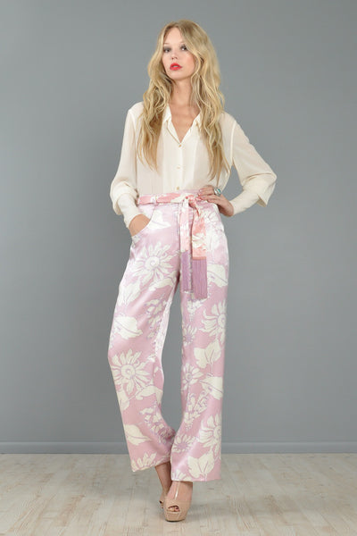 Geoffrey Beene Wide-Legged Floral Trousers