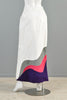 Giorgio Sant Angelo Leather Colorblock Maxi Skirt
