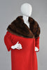 Hattie Carnegie 1950s Wool + Russian Sable Coat