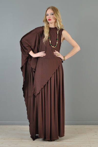 Jean Varon One Sleeved Bohemian Maxi Dress