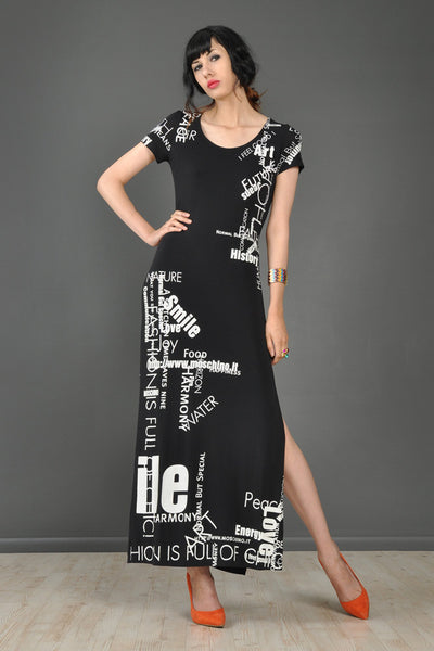 Moschino Positive Energy Text Dress