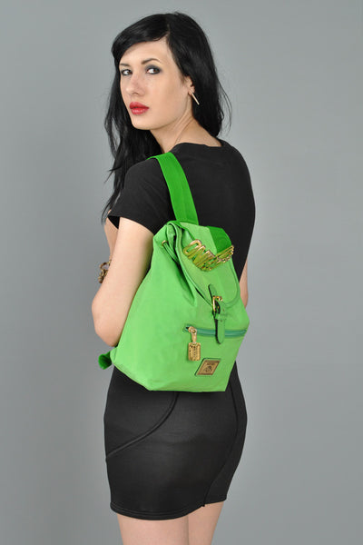 Moschino Lime Green Backpack