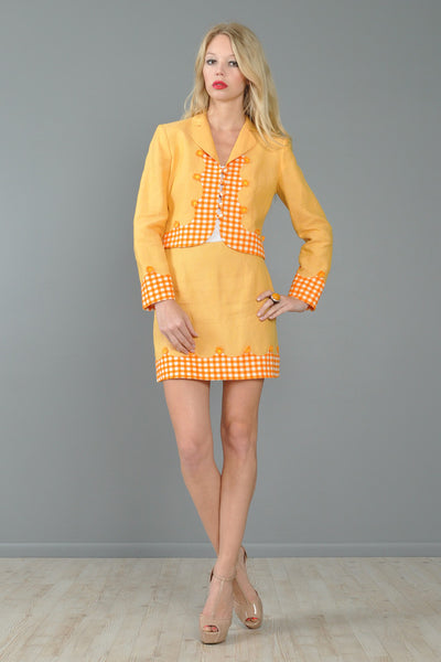 Moschino Gingham + Daisies Suit