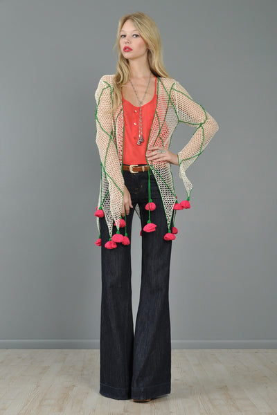 Moschino Crochet Rose Garden Trellis Jacket