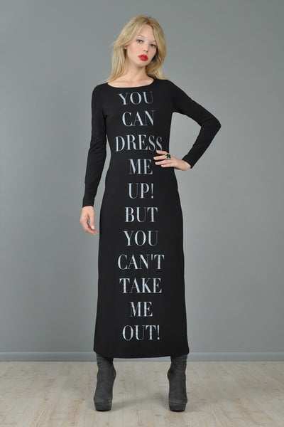 "Moschino ""Dress Me Up"" Bodycon Maxi Dress"
