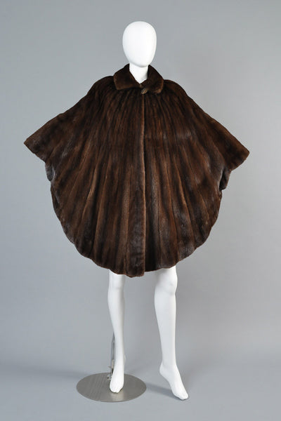 Pierre Balmain Scalloped Mink Fur Cape