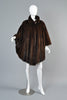 Vintage Pierre Balmain Scalloped Mink Fur Cape