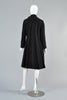Vintage 1960s Pierre Cardin Space Age Tab Neck Pleated Coat
