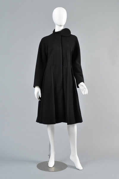 1960s Pierre Cardin Tab Neck Pleated Coat