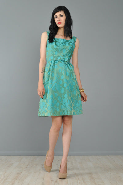 Metallic Brocade Tulips Party Dress
