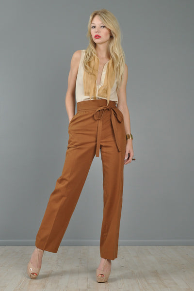 YSL High Waisted Sienna Wrap Trousers