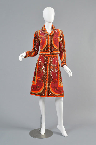Pucci 1960s Velvet Skirt + Jacket Ensemble