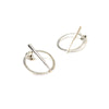 Petite Telson Orbit 2 Part Studs Sterling